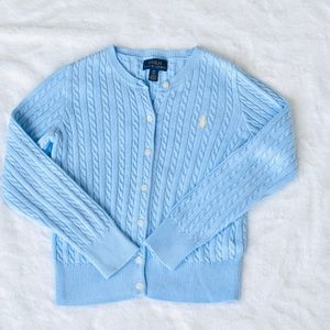 Polo Ralph Lauren Light Blue SZ 7 cardigan